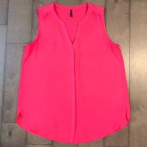 NYDJ pleat back split neck blouse